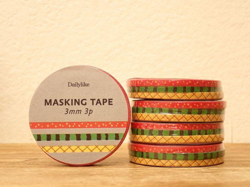 画像1: 【ネコポスOK】 decollections/デコレクションズ マスキングテープ 3個セット Fruit