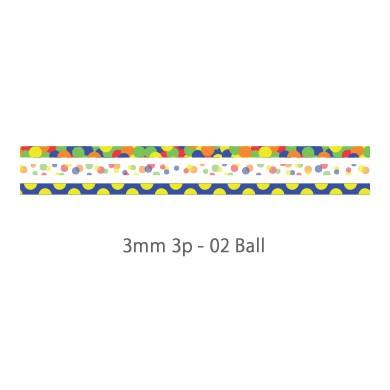 画像2: 【ネコポスOK】 decollections/デコレクションズ マスキングテープ 3個セット Ball