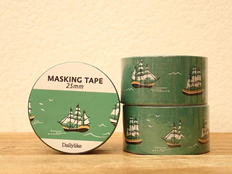 画像1: 【ネコポスNG】 decollections/デコレクションズ マスキングテープ Ship