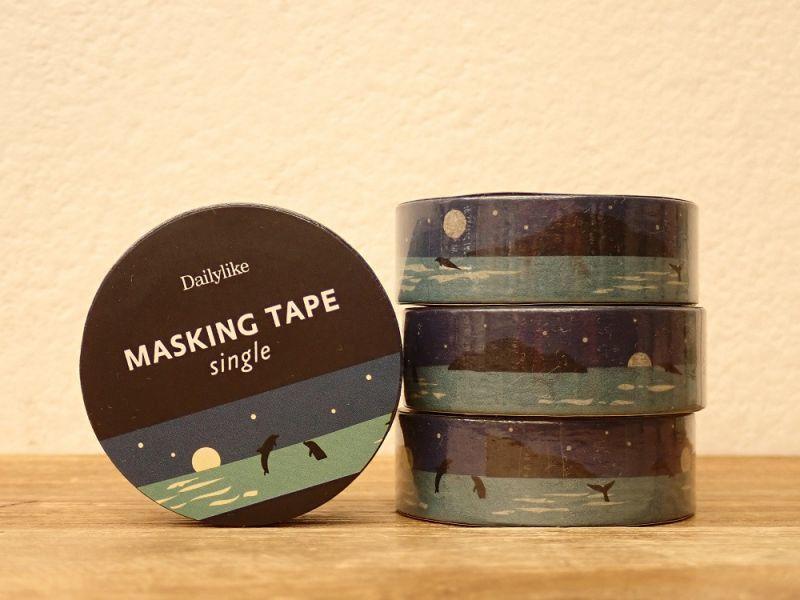 画像1: 【ネコポスOK】 decollections/デコレクションズ マスキングテープ Night sea