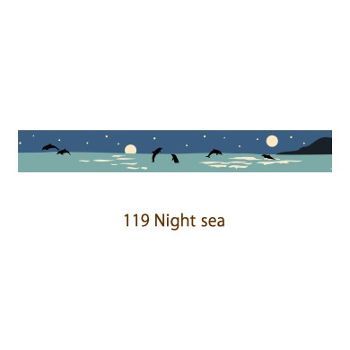 画像2: 【ネコポスOK】 decollections/デコレクションズ マスキングテープ Night sea