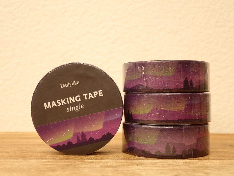 画像1: 【ネコポスOK】 decollections/デコレクションズ マスキングテープ Aurora