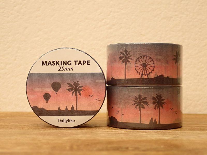 画像1: 【ネコポスNG】 decollections/デコレクションズ マスキングテープ Sunset