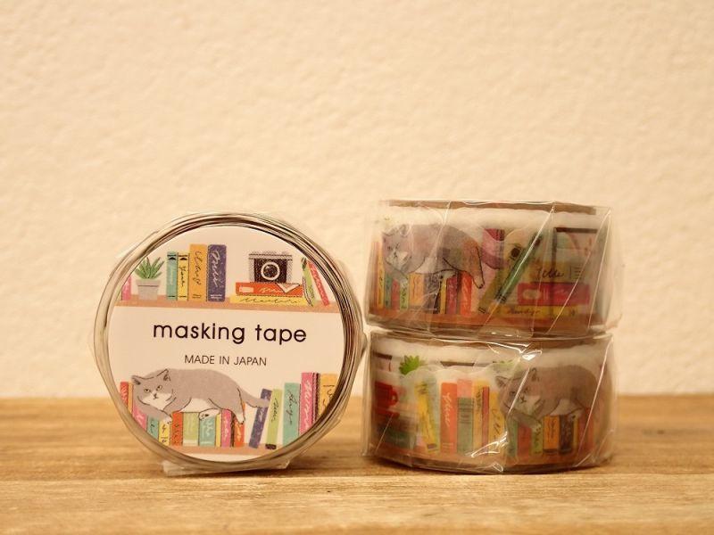 画像1: 【ネコポスOK】 ダイカットマスキングテープ 本棚