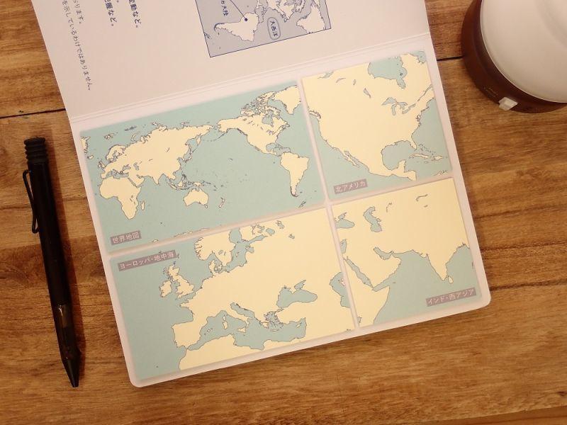 画像1: 【ネコポスOK】 地図付箋 世界 01