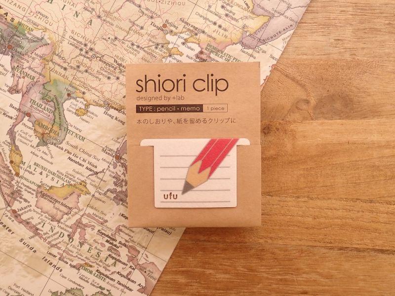 画像1: 【ネコポスOK】 shiori clip/しおりクリップ 鉛筆メモ