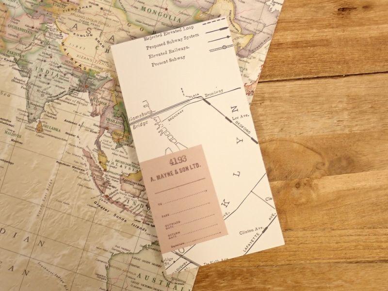 画像1: 【ネコポスOK】 メモパッド 地図 B