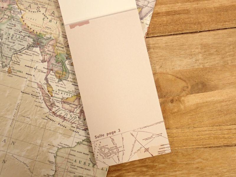 画像2: 【ネコポスOK】 メモパッド 地図 C