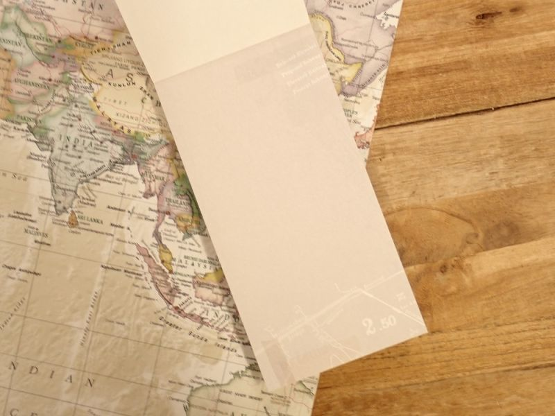 画像4: 【ネコポスOK】 メモパッド 地図 B