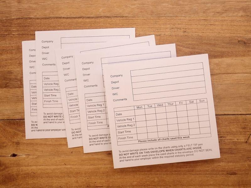 画像1: 【ネコポスOK】 イギリス タクシー運行記録保存袋 5枚セット