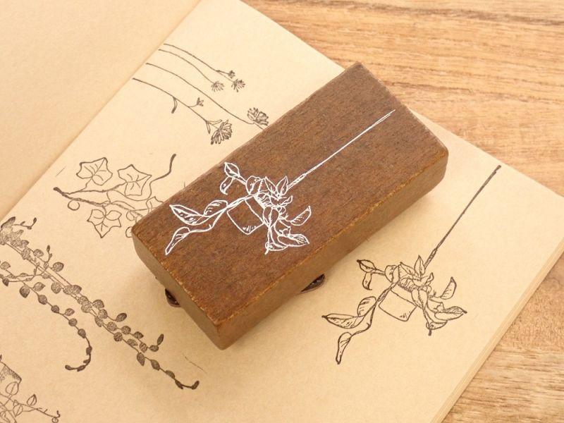 画像1: 【ネコポスOK】 スタンプ 空中花園 chlorophytum comosum