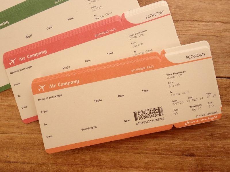 画像2: 【ネコポスOK】 航空チケット メモF