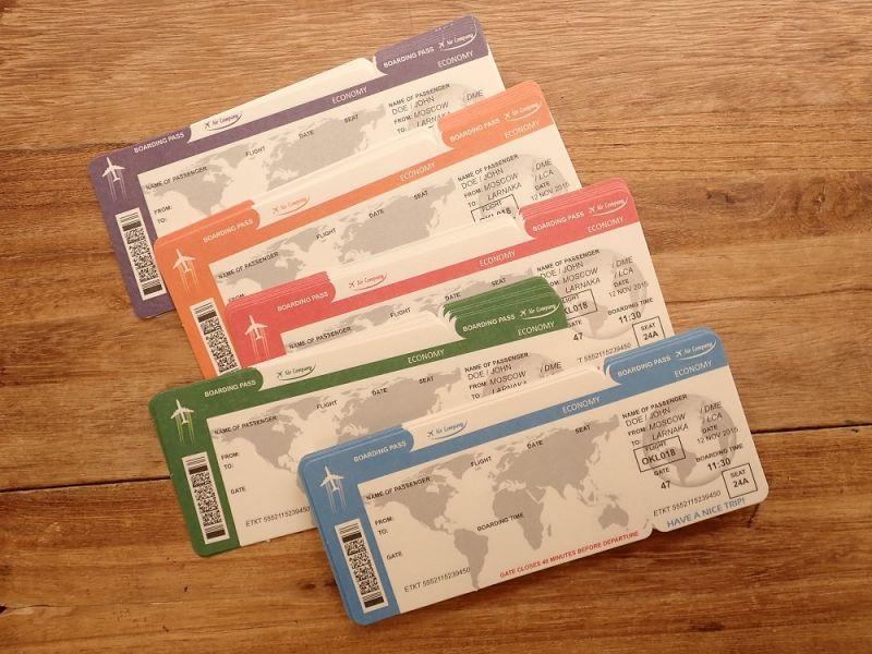 画像1: 【ネコポスOK】 航空チケット メモA