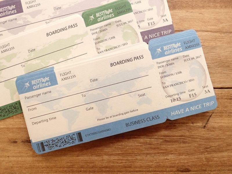 画像2: 【ネコポスOK】 航空チケット メモB