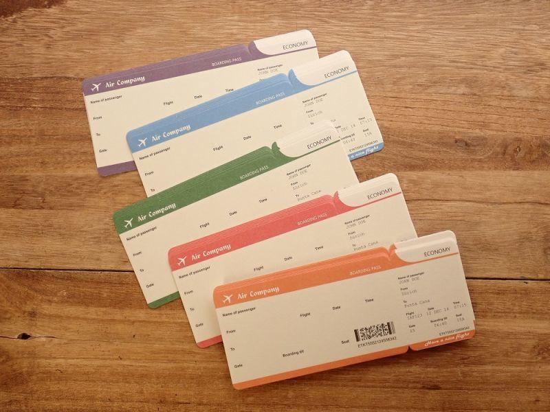 画像1: 【ネコポスOK】 航空チケット メモF