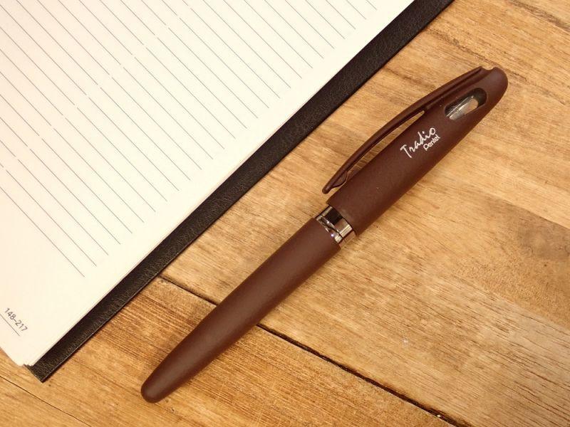 画像1: 【ネコポスOK】 Pentel Tradio Fountain Pen/万年筆 チョコレート