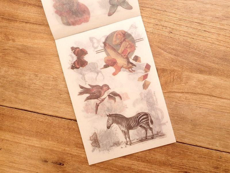 画像3: 【ネコポスOK】 和紙ステッカー ダイカット Animal world
