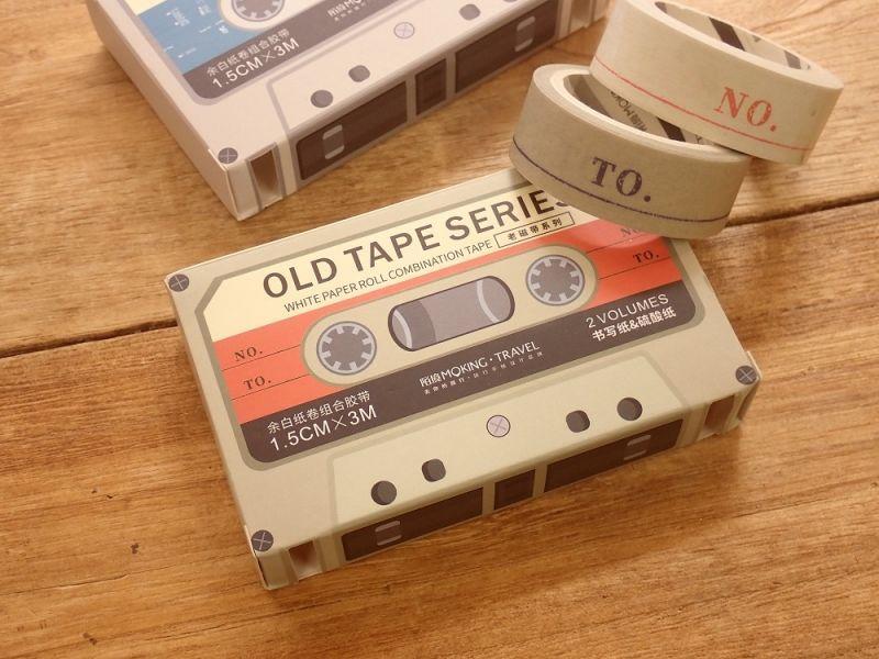 画像1: 【ネコポスOK】 OLD TAPE SERIES 剥離タイプ紙テープ A