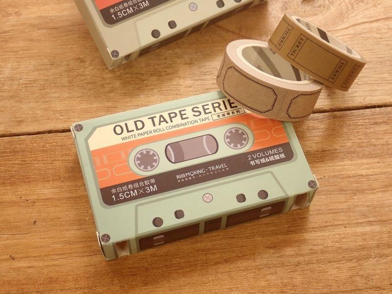 画像1: 【ネコポスOK】 OLD TAPE SERIES 剥離タイプ紙テープ G