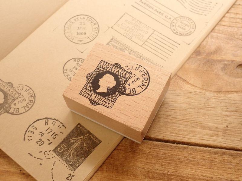 画像1: 【ネコポスOK】 スタンプ 切手×消印 A