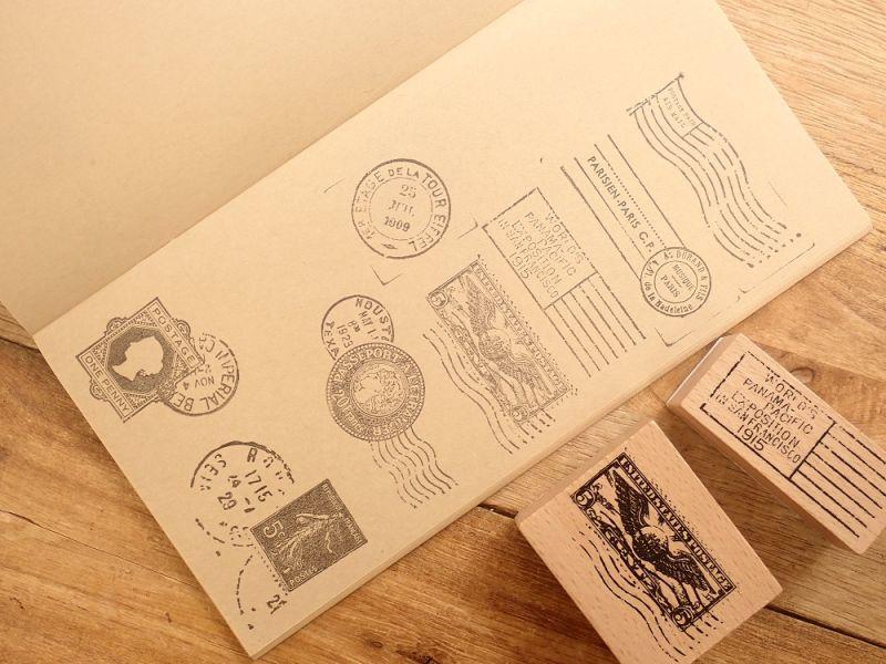 画像2: 【ネコポスOK】 スタンプ 切手×消印 A
