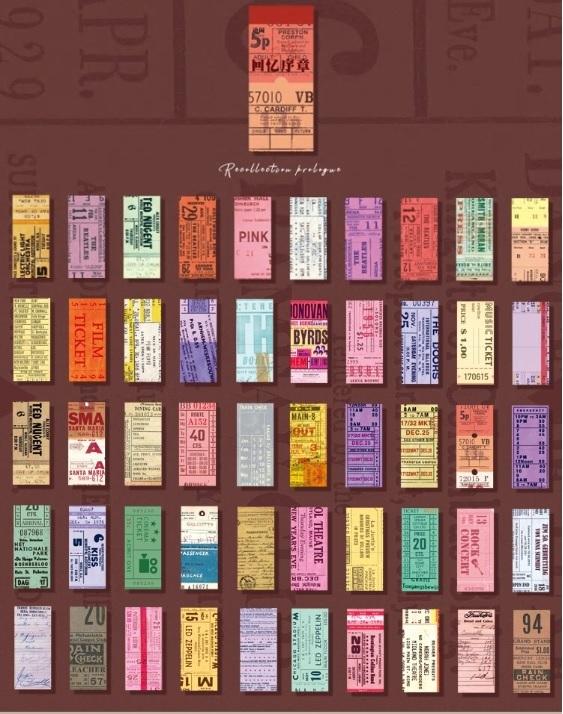 画像2: 【ネコポスOK】 レトロコレクション チケット素材集 チケットC