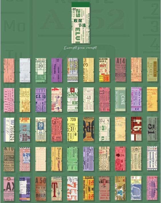 画像2: 【ネコポスOK】 レトロコレクション チケット素材集 領収書