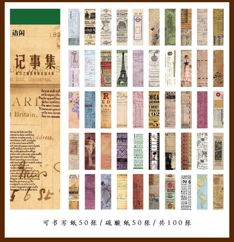 画像2: 【ネコポスOK】 レトロコレクション 素材集 メモ