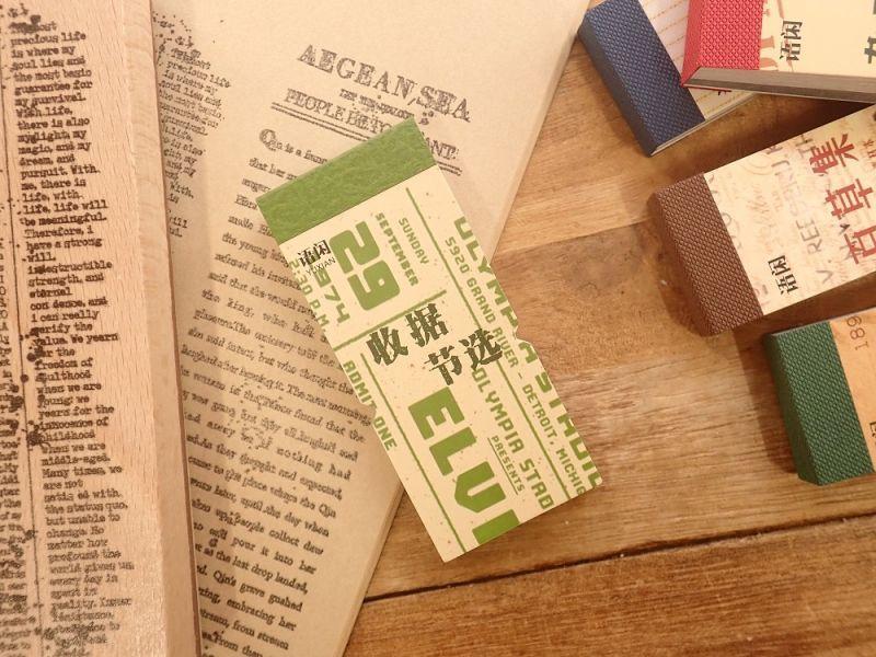 画像1: 【ネコポスOK】 レトロコレクション チケット素材集 領収書