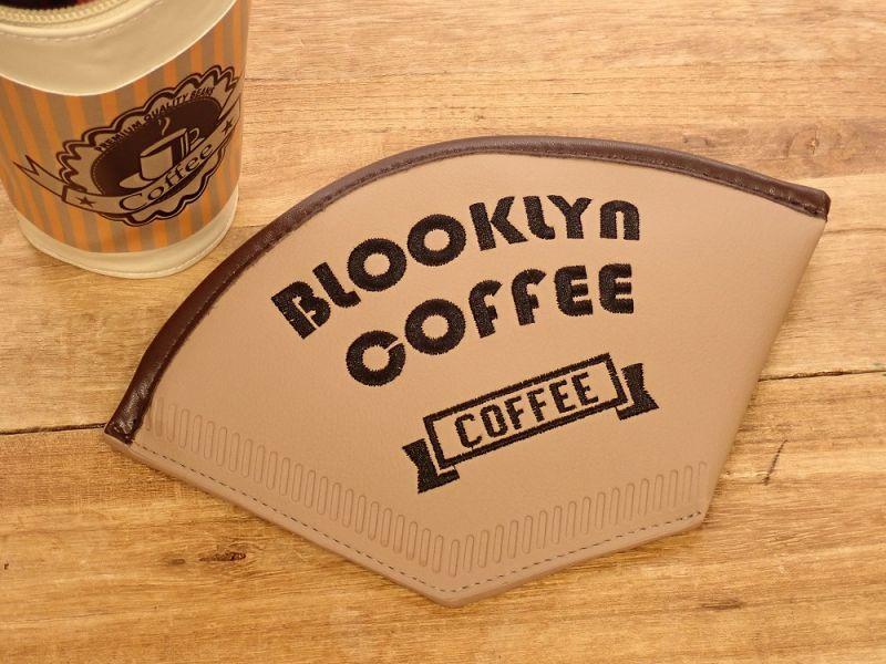 画像1: 【ネコポスOK】 コーヒーフィルターポーチ BLOOKLYN COFFEE