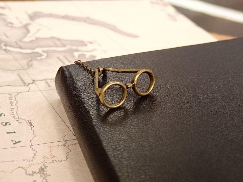 画像2: 【ネコポスOK】 ブックマーク メガネ