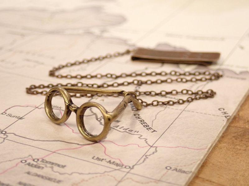 画像1: 【ネコポスOK】 ブックマーク メガネ