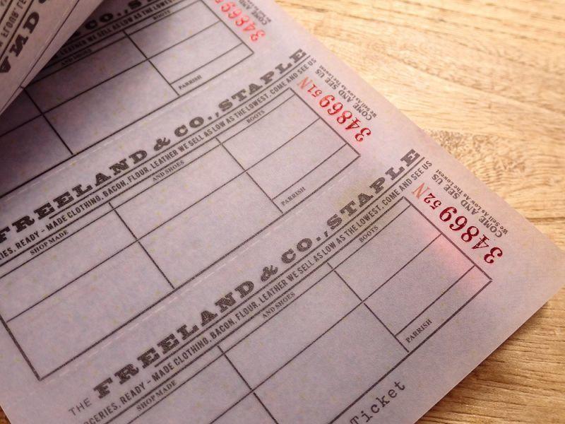 画像2: 【ネコポスOK】 Old Ticket FOOD STAMPS