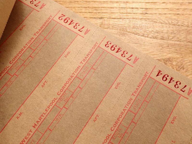 画像3: 【ネコポスOK】 Old Ticket TRANSPORT TICKET