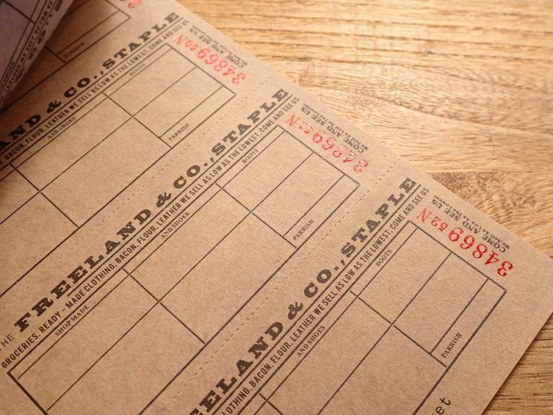 画像3: 【ネコポスOK】 Old Ticket FOOD STAMPS