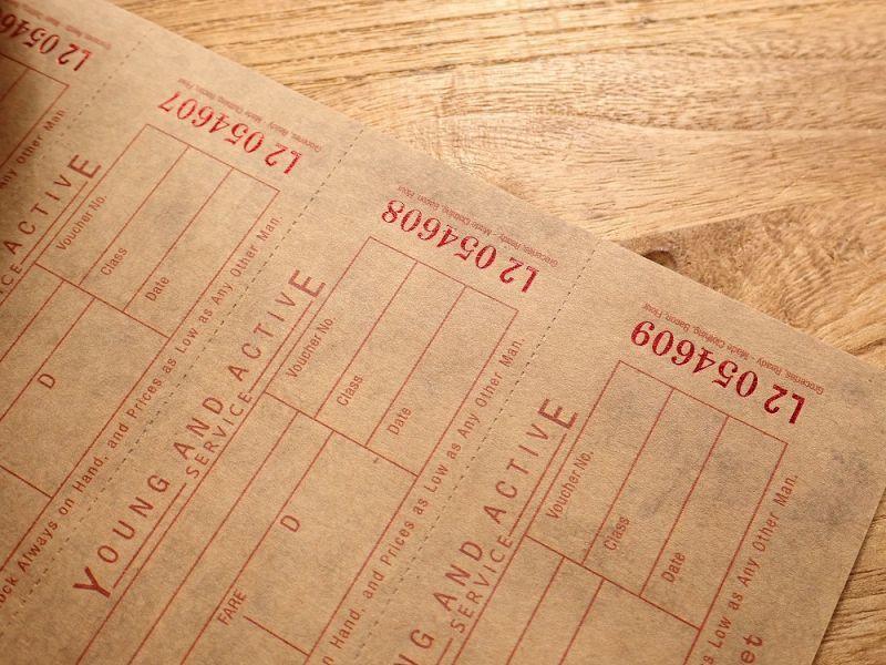 画像3: 【ネコポスOK】 Old Ticket RETURN POSTAGE