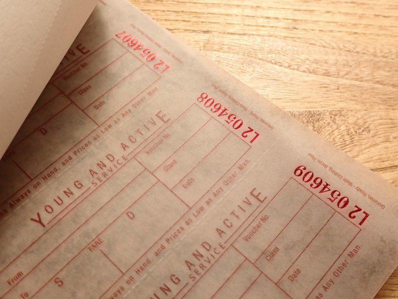 画像2: 【ネコポスOK】 Old Ticket RETURN POSTAGE