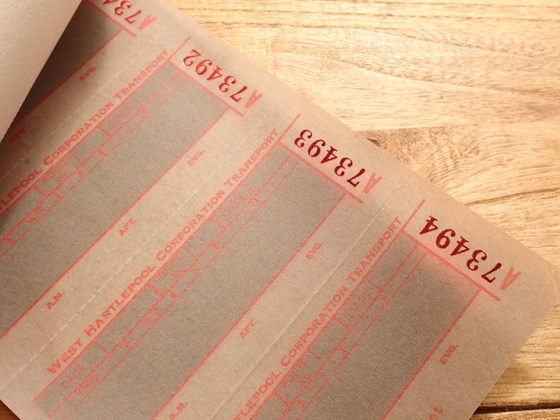 画像2: 【ネコポスOK】 Old Ticket TRANSPORT TICKET