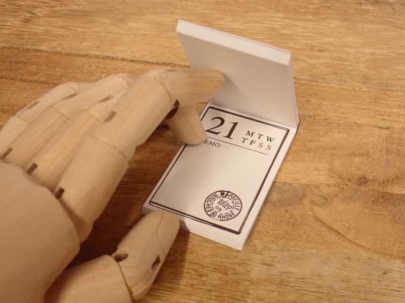 画像2: 【ネコポスOK】 素材ペーパー集 日付ナンバー付き 31柄 メモ