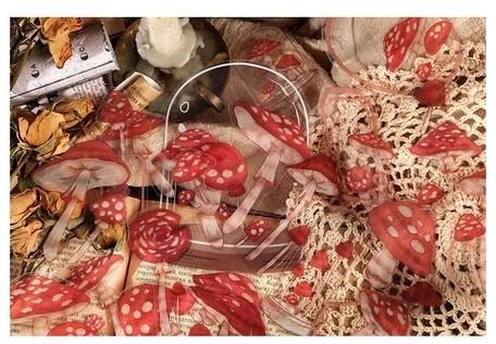 画像2: 【ネコポスOK】 PETシール 花コレクションシリーズ きのこ
