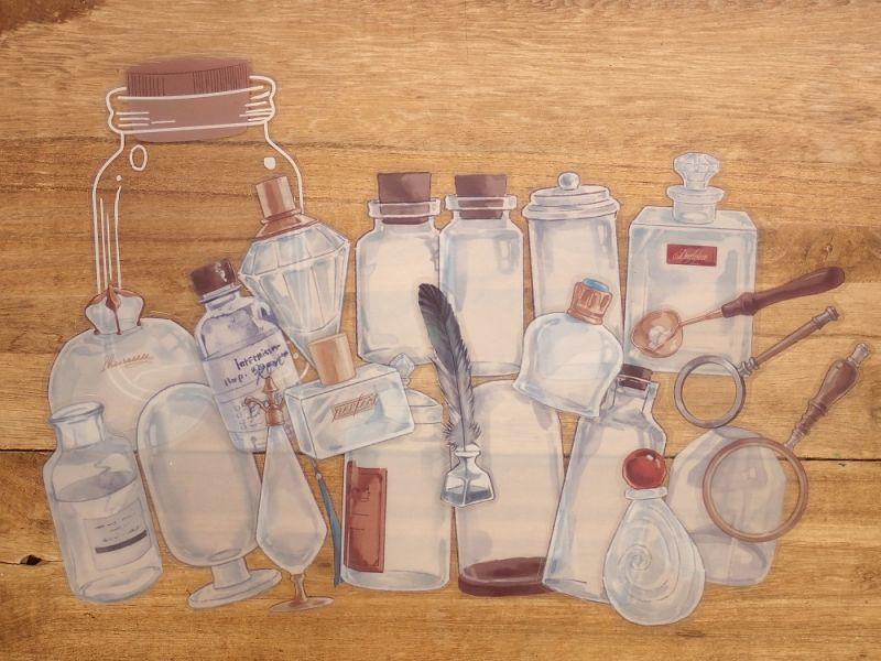 画像2: 【ネコポスOK】 PETシール コレクションシリーズ 瓶