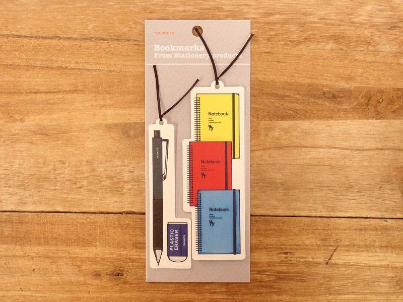 画像1: 【ネコポスOK】 文具デザインブックマーク ペン&ノート