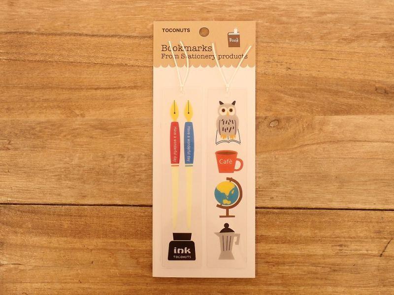 画像1: 【ネコポスOK】 クリアブックマーク つけペン