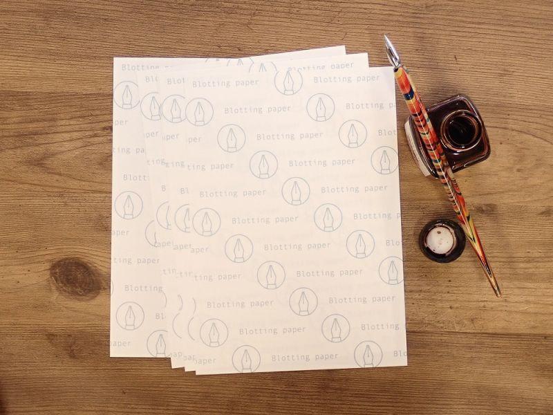 画像1: 【ネコポスOK】 kamiterior paper treasure/吸取紙 白