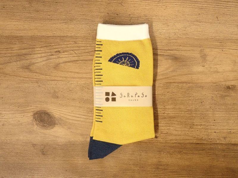 画像2: 【ネコポスOK】 garapago socks 靴下 Ruler