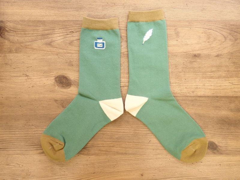 画像1: 【ネコポスOK】 garapago socks 靴下 Ink