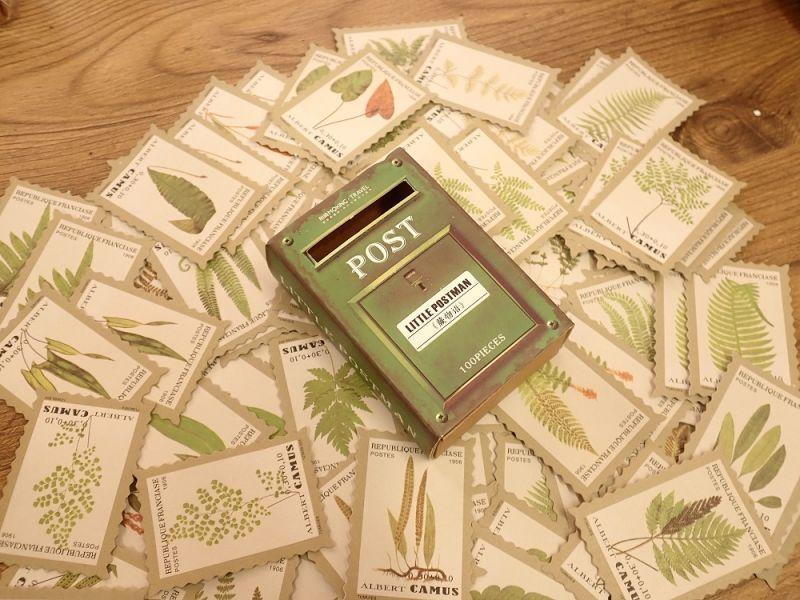画像1: 【ネコポスNG】 ステッカー LITTLE POSTMAN 植物