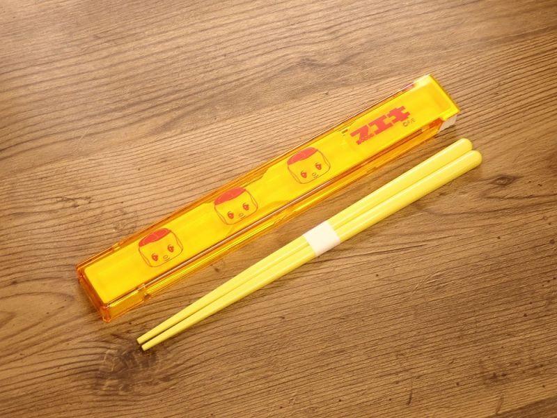 画像1: 【ネコポスOK】レトロ文具 箸・ケース付き フエキ