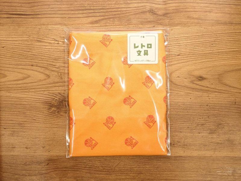 画像1: 【ネコポスOK】レトロ文具 巾着 らいおん