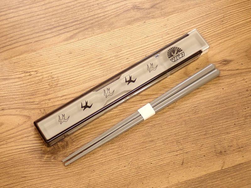 画像1: 【ネコポスOK】レトロ文具 箸・ケース付き ツバメノート